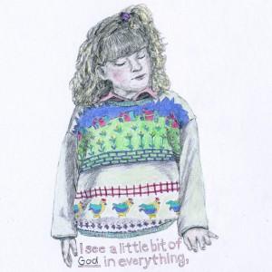 A Little Bit Of God // pencil  & colored pencil on paper, 2015