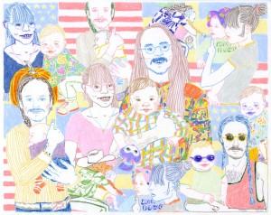 family portrait commission // colored pencil on vellum, 2016