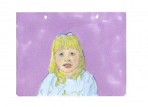 untitled girl portrait // colored pencil & marker on paper, 2014