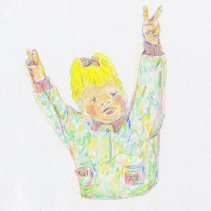 Peace Baby // colored pencil & marker on paper, 2014