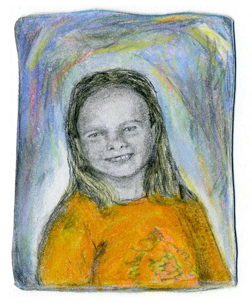 school pic // pencil & colored pencil on paper, 2015