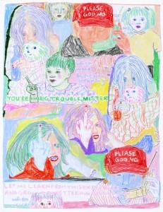 Big Trouble // colored pencil on vellum, 2016
