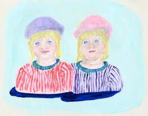 Puddle Twins // acrylic on paper, 2015