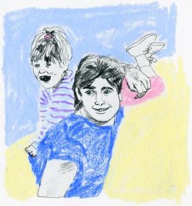 Michelle & Jesse // pencil & colored pencil on paper, 2016