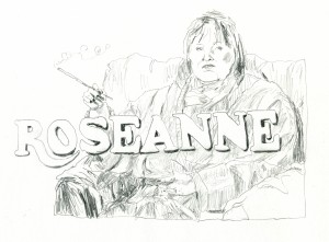 Roseanne // pencil on paper, 2017