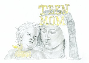 Teen Mom // pencil on paper, 2017