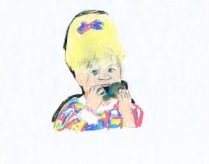 Cookie // colored pencil, pencil & crayon on paper, 2015