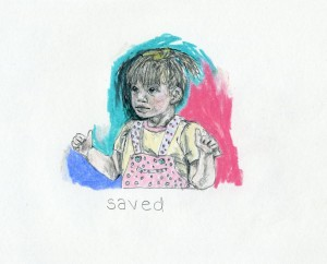 good baby  // pencil, colored pencil & wax crayon on paper, 2015