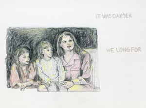 IT WAS DANGER / WE LONG FOR // colored pencil & pencil on bristol, 2015
