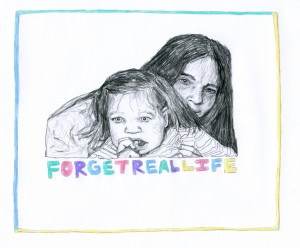 FORGET REAL LIFE // pencil & colored pencil on paper, 2015