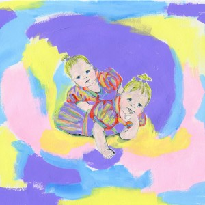untitled baby painting // pencil & acrylic on paper, 2014