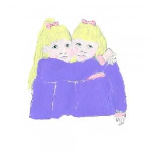 Toddler Hug II // acrylic & pencil on paper, 2014