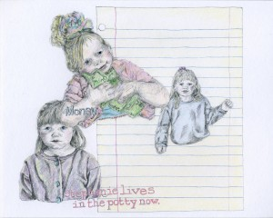 Babies with Jobs // colored pencil on paper, 2015