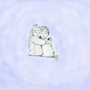Untitled Twin Hug // pencil & acrylic on paper, 2014