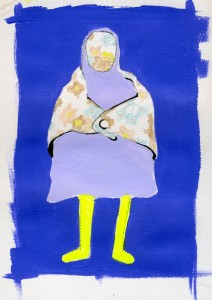 Doll #1 Portrait // acrylic, marker & ink on paper, 2011