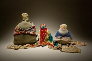 Three Babes // hand sewn dolls