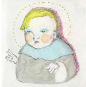 Lil Fat Baby // graphite, colored pencil & marker on paper, 2013