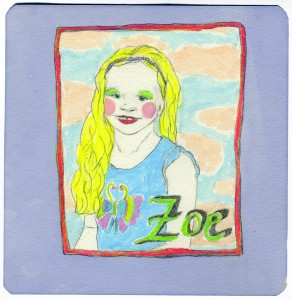 Zoe 2006 // graphite, marker & colored pencil on paper, 2013