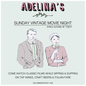 poster for Adelina's Vintage Movie Night, 2015