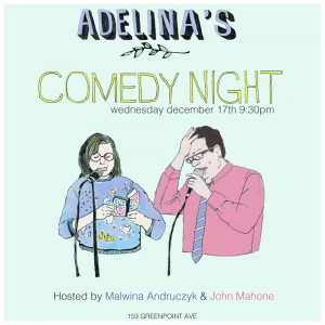 poster for Adelina's Comedy Night, 2015