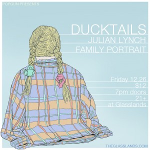 Poster for PopGun Presents // Ducktails show, 2015