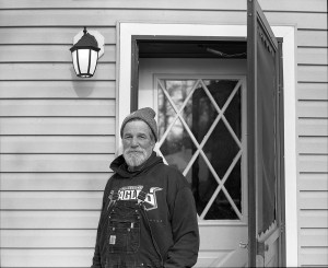 dad at door, 120mm photography
