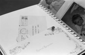 secret baby book, 35mm photograph