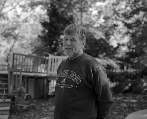 dad outside, 120mm photograph