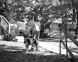 mom & dog, 120mm photography