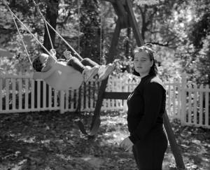 Zoe, Elizabeth swing // 120mm photograph